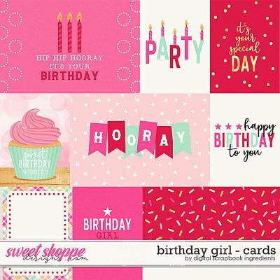 Birthday Girl | Cards by Digital Scrapbook Ingredients