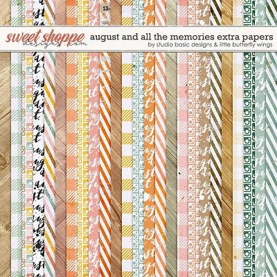August And All The Memories... Extra Papers by Studio Basic & Little Butterfly Wings