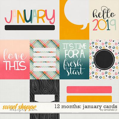 12 Months: January Cards by Amanda Yi