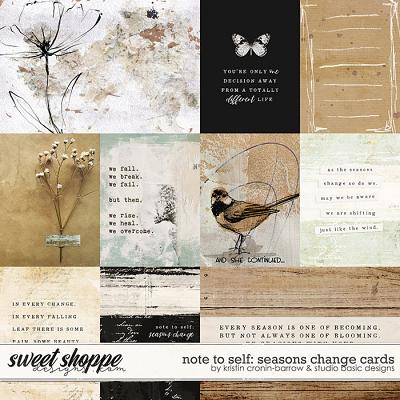 Note To Self: Seasons Change Cards by Kristin Cronin-Barrow & Studio Basic