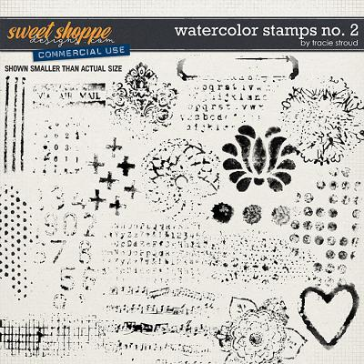 CU Watercolor Stamps no. 2 by Tracie Stroud