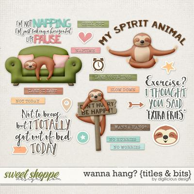 Wanna Hang? {Titles & Bits} by Digilicious Design