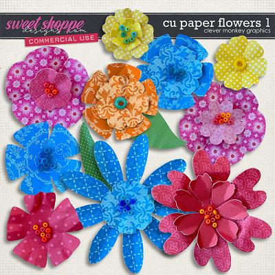 CU Paper Flowers 1 by Clever Monkey Graphics