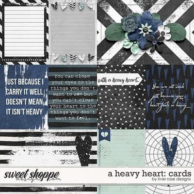 A Heavy Heart: Cards by River Rose Designs