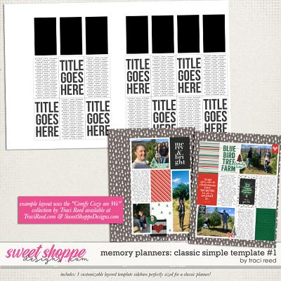 Memory Planners - Classic - Simple #1 by Traci Reed