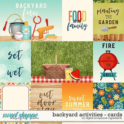 Backyard Activities | Cards by Digital Scrapbook Ingredients