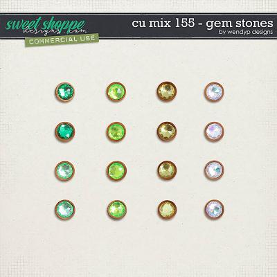 CU Mix 155 - gem stones by WendyP Designs