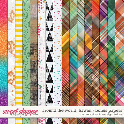 Around the world: Hawaii - bonus papers by Amanda Yi and WendyP Designs