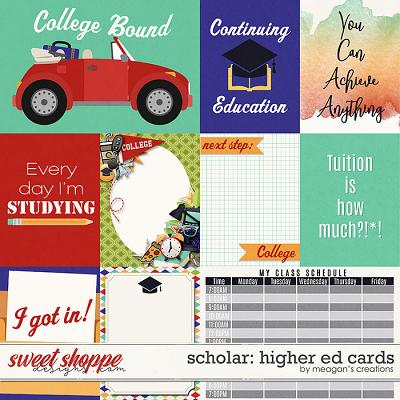 Scholar: Higher Ed Cards by Meagan's Creations