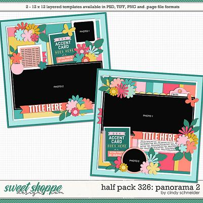 Cindy's Layered Templates - Half Pack 326: Panorama 2 by Cindy Schneider