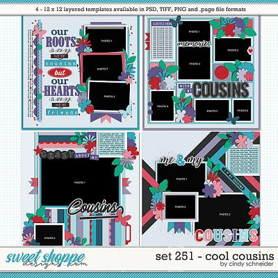 Cindy's Layered Templates - Set 251: Cool Cousins by Cindy Schneider