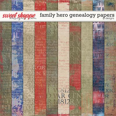 Family Hero: Genealogy Papers by LJS Designs