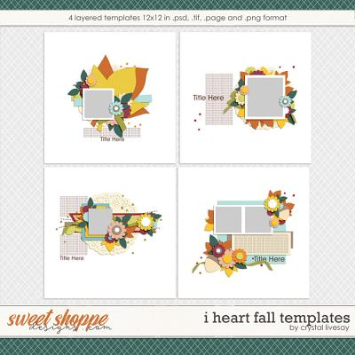 I Heart Fall Templates by Crystal Livesay