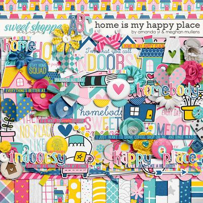 Home Is My Happy Place-Kit by Amanda Yi Designs & Meghan Mullens