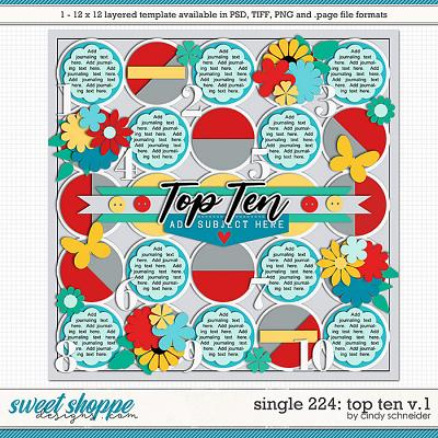 Cindy's Layered Templates - Single 224: Top Ten V.1 by Cindy Schneider