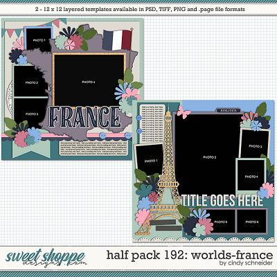 Cindy's Layered Templates - Half Pack 192: Worlds-France by Cindy Schneider