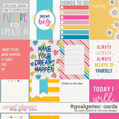#goalgetter: Cards by Robin Carlton & River Rose Designs