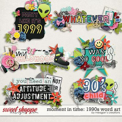 Moment in Time: 1990s Word Art by Meagan's Creations