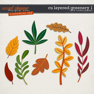 CU Layered Greenery 1 by Clever Monkey Graphics