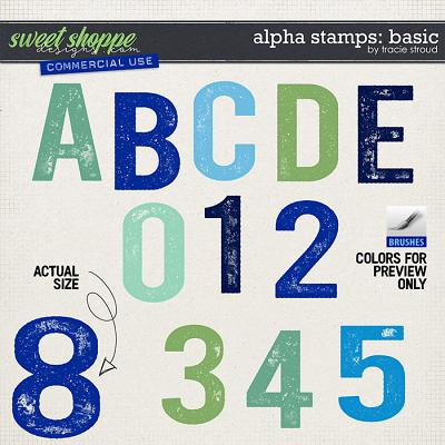 CU Alpha Stamps: Basic by Tracie Stroud
