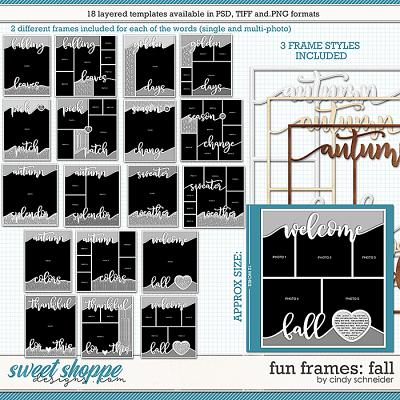 Cindy's Layered Templates - Fun Frames: Fall by Cindy Schneider