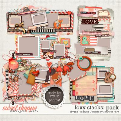clever like a fox - foxy stacks pack: simple pleasure designs by jennifer fehr