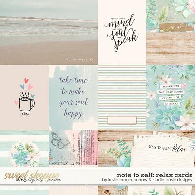 Note To Self: Relax Cards by Kristin Cronin-Barrow & Studio Basic