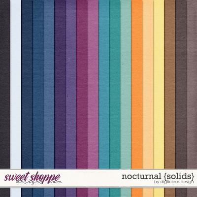 Nocturnal {Solids} by Digilicious Design