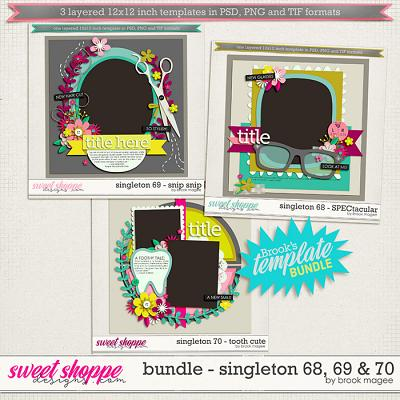 Brook's Templates - Bundle - Singleton 68, 69 & 70 by Brook Magee