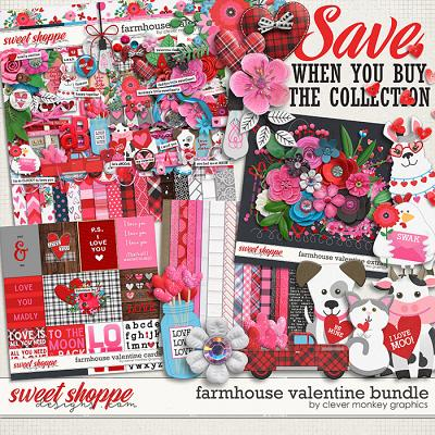 Farmhouse Valentine Bundle by Clever Monkey Graphics