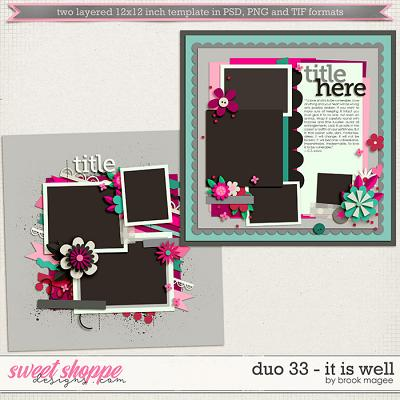 Brook's Templates - Duo 33 - It Is Well by Brook Magee