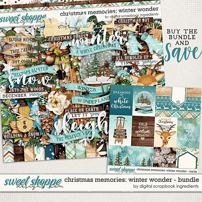 Christmas Memories: Winter Wonder Bundle by Digital Scrapbook Ingredients