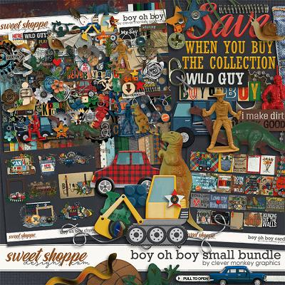 Boy oh Boy Small Bundle by Clever Monkey Graphics