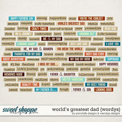 World's greatest dad - wordys by Ponytails Designs & WendyP Designs
