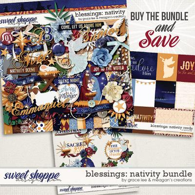 Blessings: Nativity Bundle by Grace Lee and Meagan's Creations
