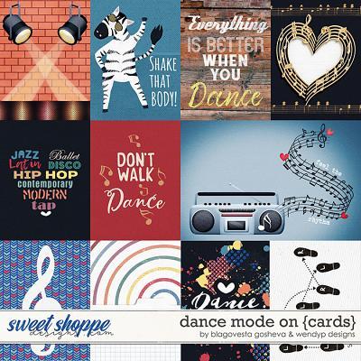Dance mode on - cards by Blagovesta Gosheva & WendyP Designs