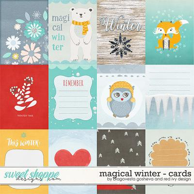 Magical Winter {Cards} by Blagovesta Gosheva & Red Ivy Designs