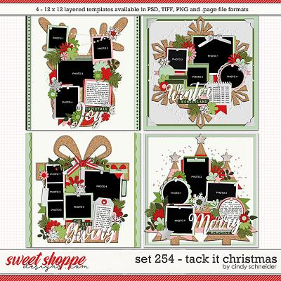 Cindy's Layered Templates - Set 254: Tack It Christmas