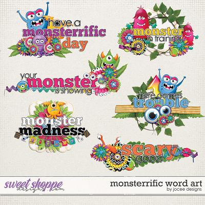 Monsterrific Word Art by JoCee Designs