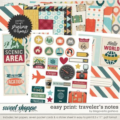 Easy Print: Traveler's Notes by Blagovesta Gosheva