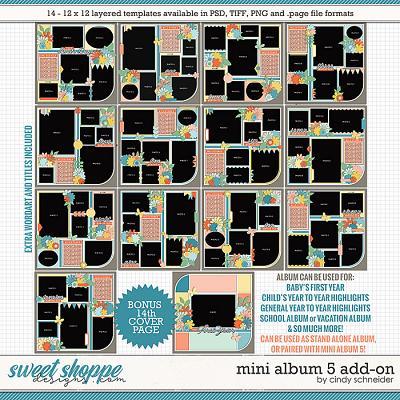 Cindy's Layered Templates - Mini Album 5: Add On by Cindy Schneider