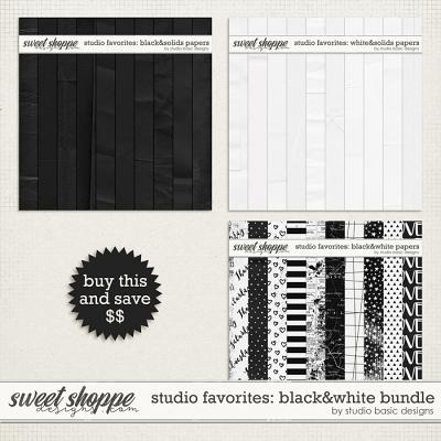 Studio Favorites: Black And White Papers Bundle by Studio Basic