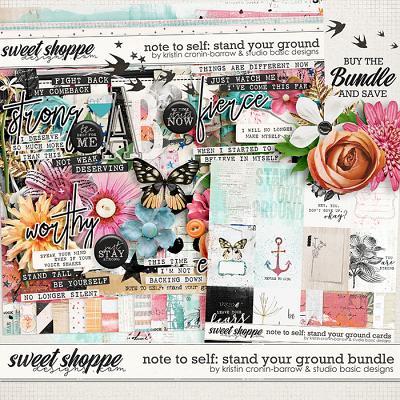 Note To Self: Stand Your Ground Bundle by Kristin Cronin-Barrow & Studio Basic