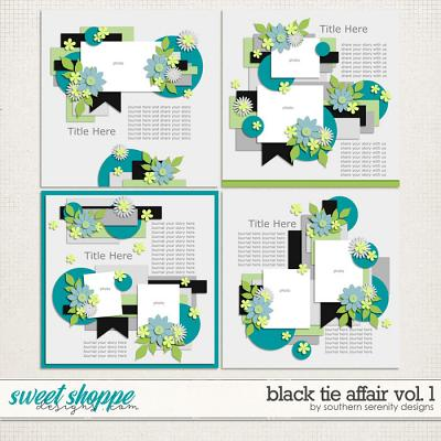 Black Tie Afair Vol 1 Layered Templates by Southern Serenity Designs