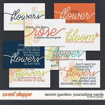 Secret Garden: Journaling Cards by Janet Phillips