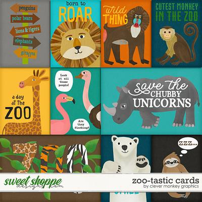 Zoo-tastic Cards by Clever Monkey Graphics