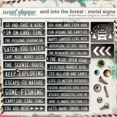and into the forest metal signs addition: simple pleasure designs by jennifer fehr