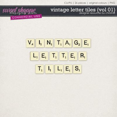 Vintage Letter Tiles {Vol 01} by Christine Mortimer