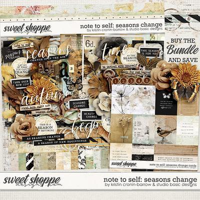 Note To Self: Seasons Change Bundle by Kristin Cronin-Barrow & Studio Basic