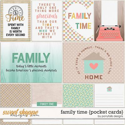 Family Time Pocket Cards by Ponytails